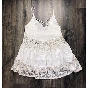 White Lace Swim Cover